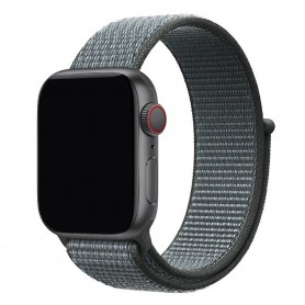 Apple Watch 42mm Nylon Armband - Storm Grey