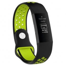 EBN Sport Armband Fitbit Charge 3 - Svart/grön