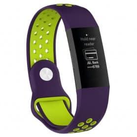 EBN Sport Armband Fitbit Charge 3 - Lila/grön