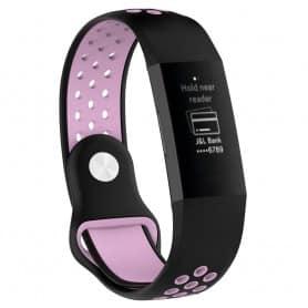 EBN Sport Armband Fitbit Charge 3 - Svart/rosa