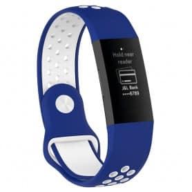 EBN Sport Armband Fitbit Charge 3 - Blå/vit