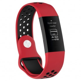 EBN Sport Armband Fitbit Charge 3 - Röd/svart