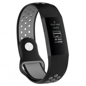 EBN Sport Armband Fitbit Charge 3 - Svart/grå