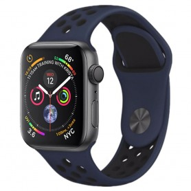 EBN Sport Armband Apple Watch 4 (44) - Mblå/svart
