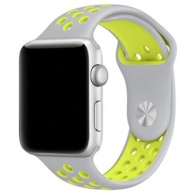 EBN Sport Armband Apple Watch 4 (44) - Grå/gul
