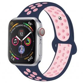 EBN Sport Armband Apple Watch 4 (44) - Blå/rosa