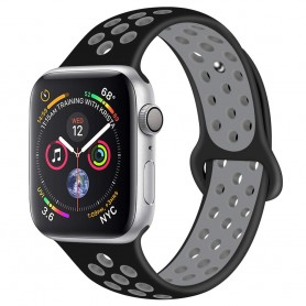 EBN Sport Armband Apple Watch 4 (40) - Svart/grå