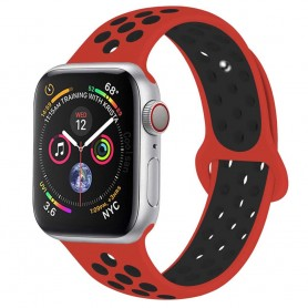 EBN Sport Armband Apple Watch 4 (40) - Röd/svart