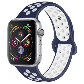 EBN Sport Armband Apple Watch 4 (40) - Blå/vit