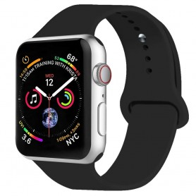Apple-Watch-4-(44mm)-large-Sport-armband-Silikon-Svart-caseonline