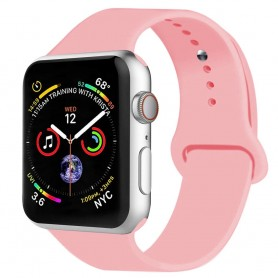 Apple Watch 4 (44mm) Sportband silikon - Ljusrosa