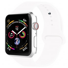 Apple Watch 4 (44mm) Sport Armband silikon - Vit