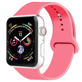 Apple Watch 4 (44mm) Silikon Sport Armband - Rosa