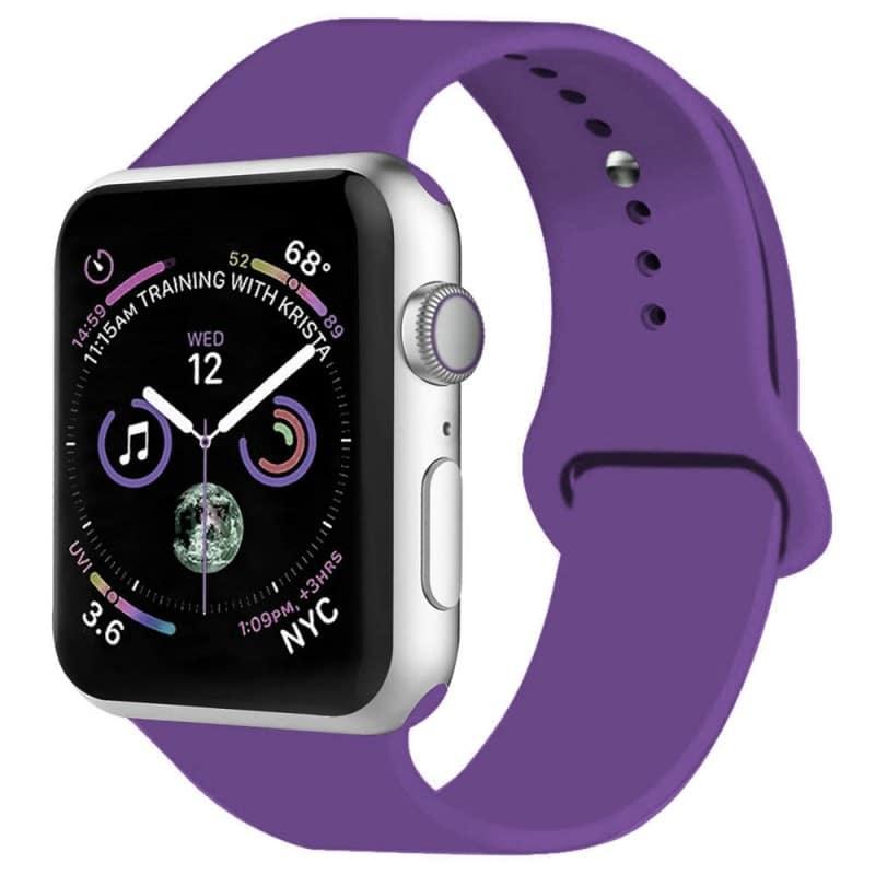 Apple Watch 4 (44mm) Sport Armband - Mörk Lila
