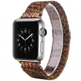 Apple Watch 42mm Serie 1, 2, 3 Armband Milanese - Leopard