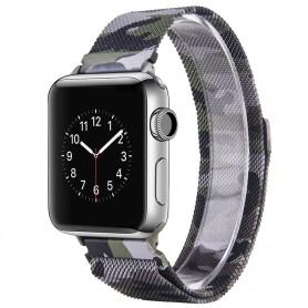 Apple Watch 42mm Serie 1,2,3 Armband Milanese Camo - Grön