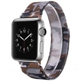 Apple Watch 38mm Serie 1,2,3 Armband Milanese Camo - Brun