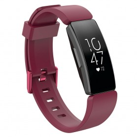 Sport Armband till FITBIT Inspire / Inspire HR - Vinröd