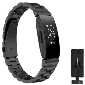Armband rostfritt stål FITBIT Inspire / Inspire HR - Svart