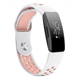 EBN Sport Armband FITBIT Inspire / Inspire HR - Vit/rosa
