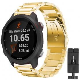 Armband rostfritt stål GARMIN Forerunner 245/245M - Guld