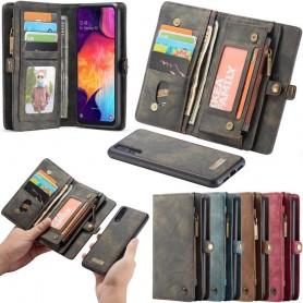 Multiplånbok CaseMe 11 kort Samsung Galaxy A50 (AM-A505F) mobilplånbok skal fodral väska