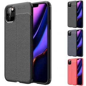 Läder mönstrat mobilskal av silikon Apple iPhone XI Max 2019