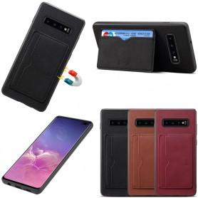 Denior Läderskal med kortfack Samsung Galaxy S10 Plus (SM-G975F)