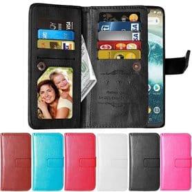 Dubbelflip Flexi 9-kort Motorola One (XT1941) mobilskal plånbok