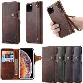 "Mobilplånbok 3-kort äkta läder Apple iPhone XI Max 2019 (6.5"")"