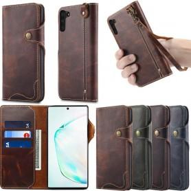Mobilplånbok 3-kort äkta läder Samsung Galaxy Note 10 (SM-N970F)
