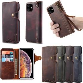 "Mobilplånbok 3-kort äkta läder Apple iPhone XIR 2019 (6.1"")"