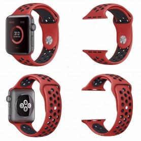 Apple Watch 42mm Sport Armband Röd-Svart