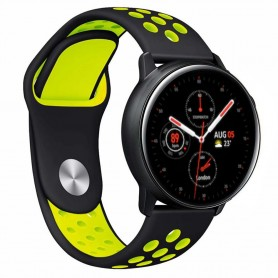 EBN Armband Samsung Galaxy Watch Active 2 - Svart/gul