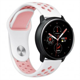 EBN Armband Samsung Galaxy Watch Active 2 - Vit/rosa