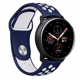 EBN Armband Samsung Galaxy Watch Active 2 - Blå/vit