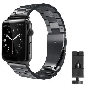 Armband rostfritt stål Apple Watch 42mm (Svart)