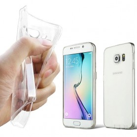 Galaxy S6 Edge silikon skal transparent