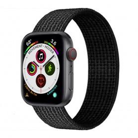 Apple Watch 5 (40mm) Nylon Armband - Black/white