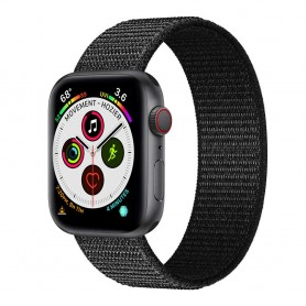 Apple Watch 5 (40mm) Nylon Armband - Dark black