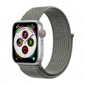 Apple Watch 5 (44mm) Nylon Armband - Spuce Fog