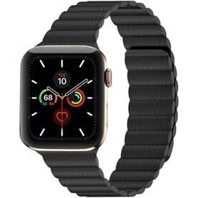 Apple Watch 5 (44mm) Leather loop band - Svart