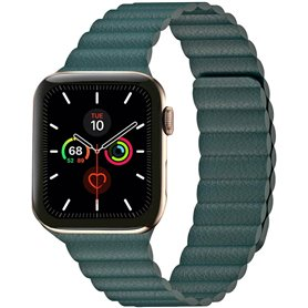 Apple Watch 5 (44mm) Leather loop band - Forest Green