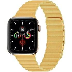 Apple Watch 5 (44mm) Leather loop band - Lemon