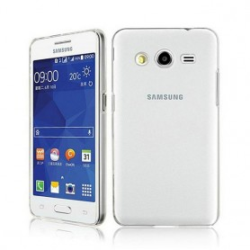 Galaxy Core 2 silikon skal transparent