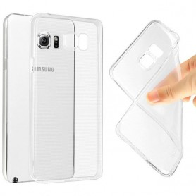 Galaxy Note 5 Edge silikon skal transparent