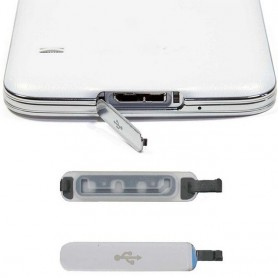 Galaxy S5 Ladd port lucka USB silver