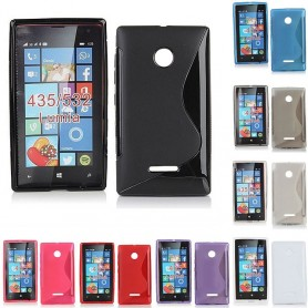 S Line silikon skal Lumia 435, 532