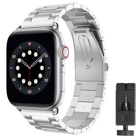 Armband rostfritt stål Apple Watch 6 (44mm) - Silver