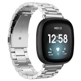 Armband rostfritt stål Fitbit Versa 3 - Silver